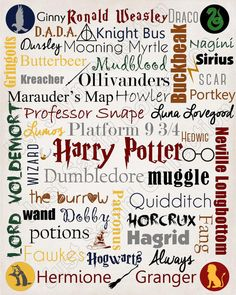 Harry Potter Printable Subway Art by JustSayinCollection