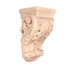 2-Pack Walnut Ekena Millwork CORW05X05X10TRWA-CASE-2 4 1//2 inch W x 5 inch D x 10 inch H Medium Traditional Wood Corbel ,