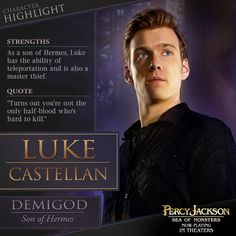 Percy Jackson: The Sea of Monsters (2013) - Sea of Monsters Compendium. Luke Castellan...    ::)