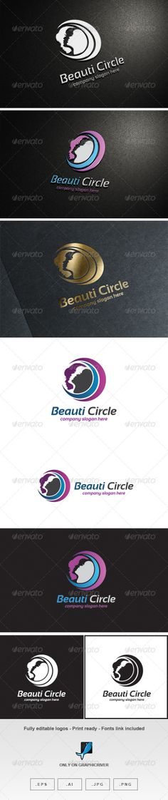 Beauti Circle Logo by Romaa Roma, via Behance