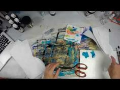 Melting Tyvek & Crackle Paste Canvas -- Patti Tolley Parrish