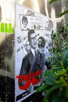 Paris 3 - rue de picardie - street art - madame moustache
