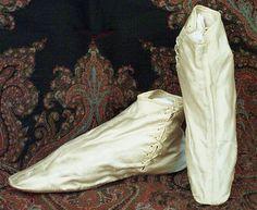 Satin half boots, 1830. Image @Rósa Guðjónsdóttir Textile