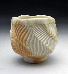 WoodFired Carved Porcelain Sake Cup – Jeff Brown