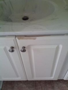 Video on how to remove thermofoil from cabinets. We will be doing ...
