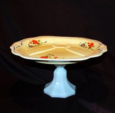 Antique Pedestal Serving Plate. Oh my, I like this too <3