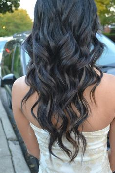 Homecoming hair. I love soft waves. If I only had thin hair