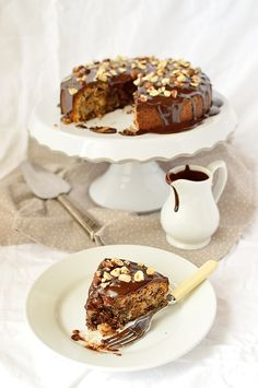 Dark Chocolate, Pear And Hazelnut Cake - Domestic Gothess Pear Recipes, Sweet Recipes, Cake Recipes, Dessert Recipes, Dark Chocolate Recipes, Chocolate Ganache, Chocolate Lovers, Biscuits, Cakes Plus