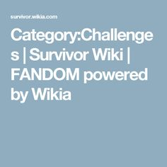 This lists recurring challenges that have appeared in Survivor. Survivor Party Games, Amazing Race, Challenges, Fandoms, Outdoors, Tv, Birthday, Birthdays, Television Set
