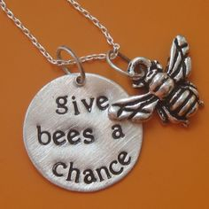 Give Bees A Chance Necklace by sudlow on Etsy, $40.00