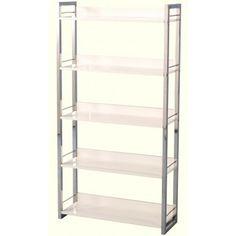 Charisma 5 Shelf Bookcase | White