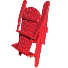 Valerie Folding Adirondack Chair In Red   Ready, Set, Spring On Joss And  Main