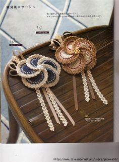 Flower Motif with Pearls Crochet Pattern PDF