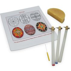 3 Kistkas, Beeswax, Cleaning Wire & Instructions Egg Decorating Kit | BestPysanky
