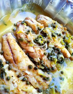 Yellow tail snapper piccata