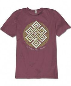 c0a72651d0 Men's Organic Celtic Endless Knot T-Shirt Unisex Tshirt Knot, Knotted Shirt,  T