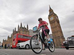 Em Londres, quem deixa o carro em casa para ir a pé ou de bicicleta ao trabalho é recompensado.