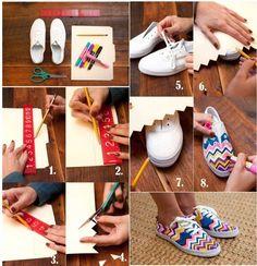 DIY Fashion Craft Sneakers fashion diy diy ideas diy crafts do it yourself crafty diy fashion diy pictures sneaker crafts
