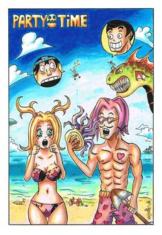 PARTY TIME - SUNNY BEACH by ninjakees.deviantart.com on @DeviantArt