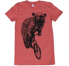 6ebb1f857 Womens BEAR on mountain BICYCLE american by darkcycleclothing