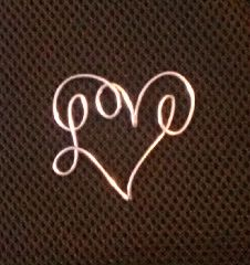 Wire love heart