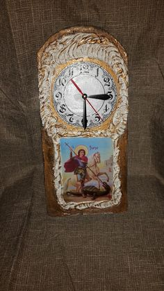 Dekupaž sat. .motiv Sv.Georgije - slavske i dekupaz flase - Google+