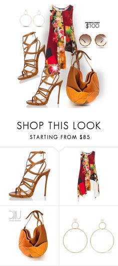 """""""Simply satisfied"""" by interesting-times ❤ liked on Polyvore featuring Dsquared2, Champagne and Natasha Schweitzer"""