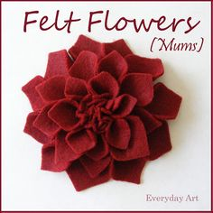 Want: Want ******* Really easy tutorial on how to do the felt flowers for the canvas hanging