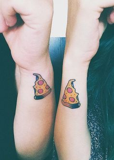 Pizza best friend tattoos. YES.