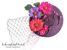 Headpieces & Fascinators - Ministrohhut Fascinator Farbtraum *FEA* Blume - ein Designerstück von Lebenslust2in1 bei DaWanda