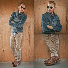 denim jacket and Dr. Marten's - classic casual