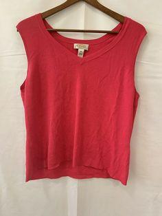 84b16e5da00 Talbots Womens Size XL Hot Pink Sleeveless Sweater Tank Top Rayon Casual  stretch  Talbots