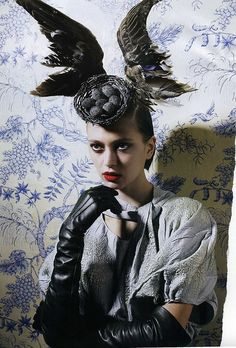 Alexander McQueen - would be awesome to model a Halloween costume after this.