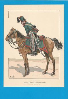 France-Planche de JOB - Corps des Douanes -1835.Cavalier d'ordre.