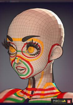 Female Base Mesh for Stylized Characters 3d Model Character, Character Modeling, Character Art, Character Design, Zbrush, 3d Face Model, 3d Modellierung, Face Topology, 3d Drawing Techniques