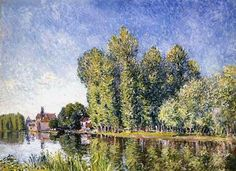 Alfred Sisley, The Loing at Moret. See The Virtual Artist gallery: www.theartistobjective.com/gallery.html