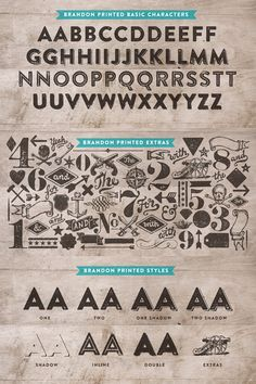 Brandon Printed is a stylishvintage and Wild West style type family from HVD Fonts.