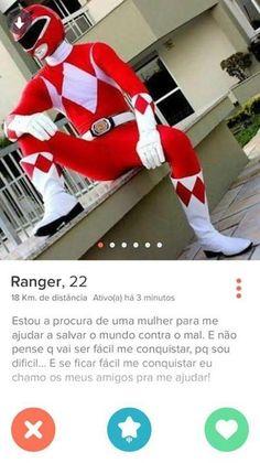 Este Power Ranger quer salvar o mundo junto com você.   16 pessoas que mandaram muito bem no Tinder