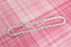 5 Wholesale Rope Chain Bracelets Sterling Silver and Rhodium Plated by Shiny Little Blessings.