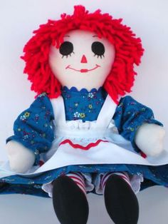 Classic Raggedy Ann Doll Handmade by theyellowroses for $40.00