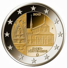 2 Euro Commemorative Coins Germany 2013, Kloster Maulbronn Abbey Baden-Württemberg