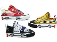 These cool new Converse slip-on sneakers come in fire truck, taxi and police car designs, perfect for zooming to emergency playdates (while making sound effects! Converse Slip On, New Converse, Slip On Sneakers, Converse Sneakers, Expecting Baby, Little Man, Fire Trucks, Chuck Taylor Sneakers, Boys Shoes