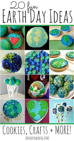 20 Fun Earth Day Ideas – Cookies, Crafts and More! #Earth #Day
