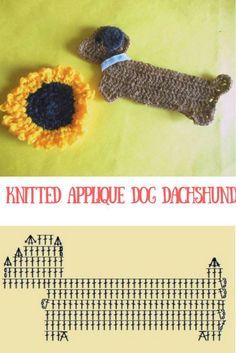 http://dizaks.ru/sobachka-taksa-applikatsii-kryuchkom/  Knitted applique dog dachshund #crochet, #tutorial, #pattern