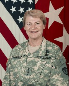 Ann Elizabeth Dunwoody is a retired four-star general in the United States Army. She is the first woman in U.S. military and uniformed service history to achieve a four-star officer rank, receiving her fourth star on November 14, 2008