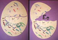 Letter of the Week Crafts- letter E is for Egg #preschool alphabet activities