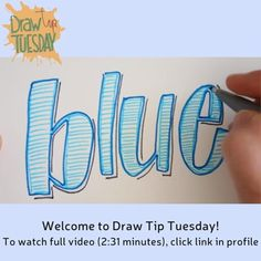 Welcome to Draw Tip Tuesday! Outline, hatch and add shading for fun lettering!  To watch the full video, click link in profile.  #drawtip #drawtiptuesday #handlettering #sketchbookskool #artjournal #sketchbook #draw #drawing#calligraphy #creativehabit #arthabit