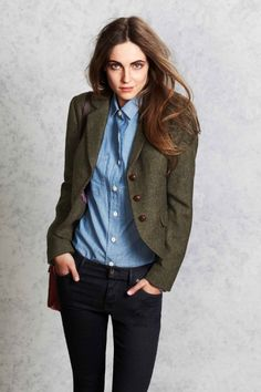 The austerberry blazer jack wills outfits blazer outfits, bl Tweed Blazer Outfit, Blazer Outfits, Casual Blazer, Blazer Jacket, Tomboy Chic, Casual Chic, Business Outfits, Office Outfits, Jack Wills Outfit