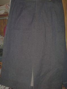 1X   Zoey & Beth Plus Stretch Dark Blue Long Denim Jean Women's Skirt W34-38 L32 #ZoeyBeth #StraightPencil