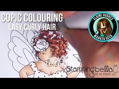 Marker Geek Monday: Copic Colouring Easy Curly Hair featuring Edna! | stamping…